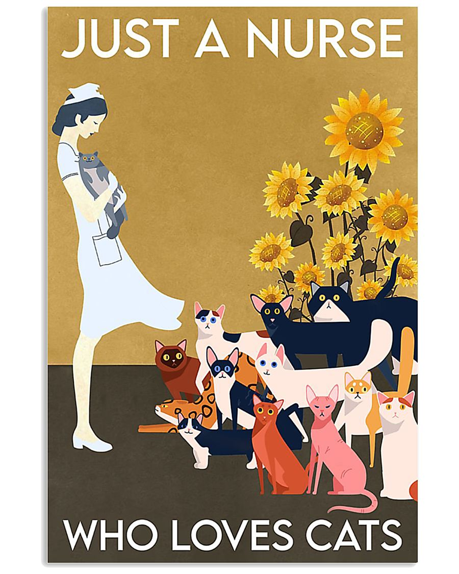 Just A Nurse Who Loves Cats 24x36 Poster