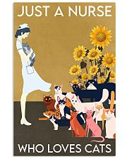 Just A Nurse Who Loves Cats 24x36 Poster front
