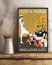 Just A Nurse Who Loves Cats 24x36 Poster lifestyle-poster-3