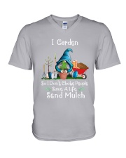Garden So I Dont Choke People V-Neck T-Shirt thumbnail
