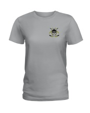 Skull Hockey Social Distancing 2 Sides Ladies T-Shirt thumbnail