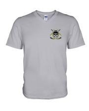 Skull Hockey Social Distancing 2 Sides V-Neck T-Shirt thumbnail