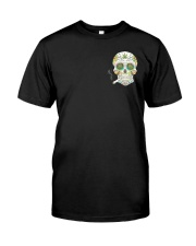 Weed Skull I'd Hit That 2 Sides Classic T-Shirt front