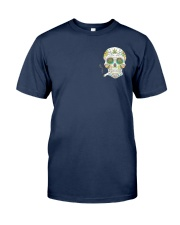 Weed Skull I'd Hit That 2 Sides Classic T-Shirt tile