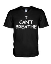 I Cant Breathe BLM V-Neck T-Shirt thumbnail