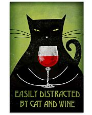 Easily Distracted By Cat And Wine Poster 16x24 Poster front