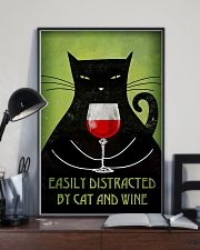 Easily Distracted By Cat And Wine Poster 16x24 Poster lifestyle-poster-2