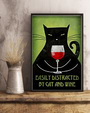 Easily Distracted By Cat And Wine Poster 16x24 Poster lifestyle-poster-3