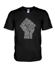 Strong BLM V-Neck T-Shirt thumbnail