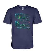 Husband Wings V-Neck T-Shirt thumbnail
