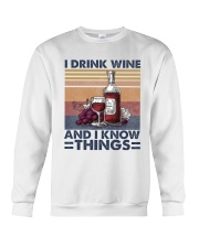 I Drink Wine Crewneck Sweatshirt thumbnail