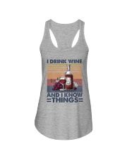 I Drink Wine Ladies Flowy Tank thumbnail