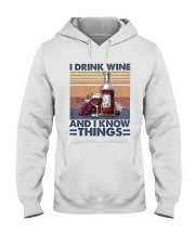 I Drink Wine Hooded Sweatshirt thumbnail