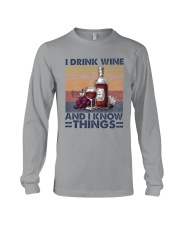 I Drink Wine Long Sleeve Tee thumbnail
