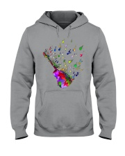 Guitar Watercolor Hooded Sweatshirt thumbnail