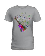 Guitar Watercolor Ladies T-Shirt thumbnail