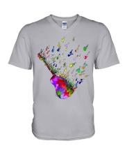 Guitar Watercolor V-Neck T-Shirt thumbnail
