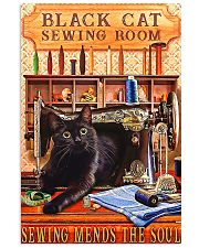 Black Cat Sewing Poster  11x17 Poster front