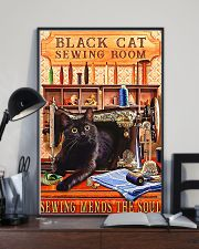 Black Cat Sewing Poster  11x17 Poster lifestyle-poster-2