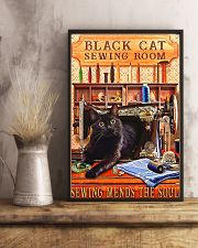 Black Cat Sewing Poster  11x17 Poster lifestyle-poster-3