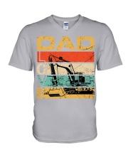 Excavator Dad Love V-Neck T-Shirt thumbnail