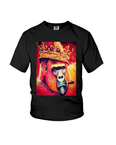 Gorilla King Of The Jungle art on t-shirt