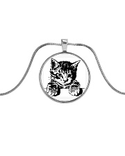 Kitty Necklace Metallic Circle Necklace front
