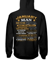 MAN FORGET 1 Hooded Sweatshirt back