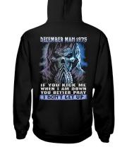 I DONT GET UP 75-12 Hooded Sweatshirt back