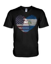 MY HEART Nicaragua V-Neck T-Shirt thumbnail