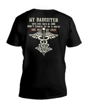 MY DAUGHTER - NURSE 06 V-Neck T-Shirt thumbnail