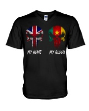 Home United Kingdom - Blood Cameroon V-Neck T-Shirt thumbnail
