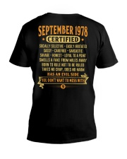 MESS WITH YEAR 78-9 V-Neck T-Shirt thumbnail