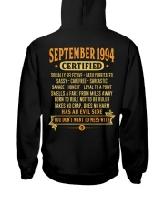 MESS WITH YEAR 94-9 Hooded Sweatshirt back