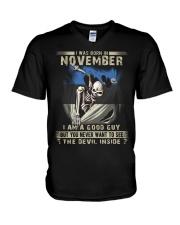 GOOD GUY ESTONIAN11 V-Neck T-Shirt thumbnail