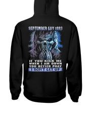 I DONT GET UP 93-9 Hooded Sweatshirt back