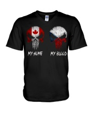 SKULL Canada - Czech Republic V-Neck T-Shirt tile