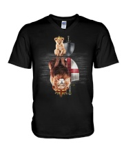 Lion-England V-Neck T-Shirt thumbnail