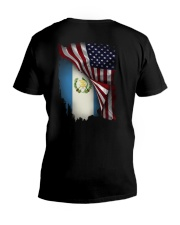 Flag-America-Guatemala V-Neck T-Shirt tile