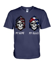 pride cuba V-Neck T-Shirt thumbnail