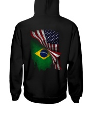 Flag-Brazil Hooded Sweatshirt back
