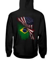 Flag-Brazil Hooded Sweatshirt back