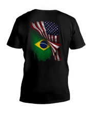 Flag-Brazil V-Neck T-Shirt thumbnail