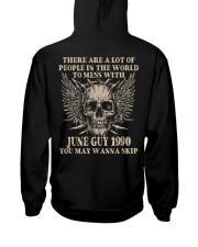 I AM A GUY 90-6 Hooded Sweatshirt back