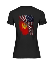 Flag-America-Montenegro Premium Fit Ladies Tee thumbnail