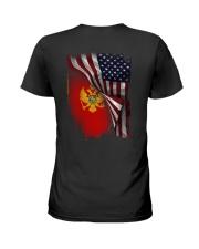 Flag-America-Montenegro Ladies T-Shirt thumbnail