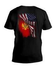 Flag-America-Montenegro V-Neck T-Shirt thumbnail