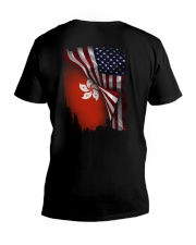 Flag-America-Hong Kong V-Neck T-Shirt thumbnail