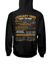 YEAR GREAT 80-1 Hooded Sweatshirt back