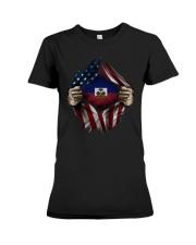American-Haiti Premium Fit Ladies Tee thumbnail